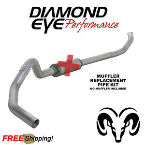 Diamond Eye 5 Inch Turbo Back Exhaust Fits 2003 2004 5 Ram 5 9 Cummins Diesel
