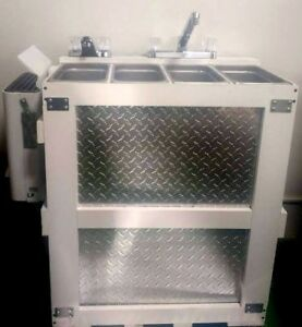 Hot Water Standard Portable Propane 3 4 Compartment Concession Sink Hand Wash