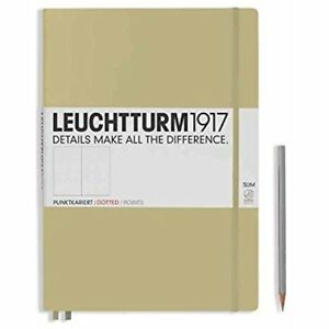 Leuchtturm1917 Hard Cover Master Slim a4 Notebook Sand Dotted
