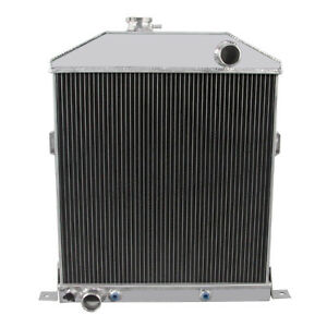3 Row Aluminum Radiator For 1942 1948 1947 1946 Ford Coupe Ford Configuration Ez