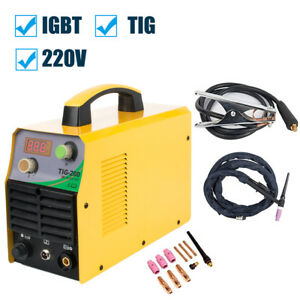 220v Digital Display Welding Machine Tig Welder Complete Accessories Set Tig 200
