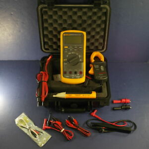 Fluke 87v Trms Multimeter Very Good Condition Hard Case Clamp Extras
