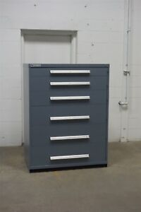 Used Vidmar 6 Drawer Cabinet Industrial Tool Storage 45 Wide 1356 Lista