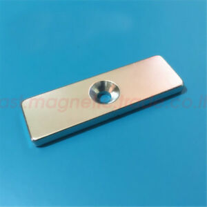 Lots 60 X 20 X 5mm Hole 5mm Super Strong Block Rare earth Neodymium Magnets N50