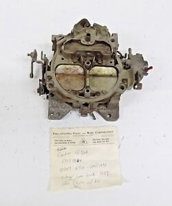 Carter Quadrajet 4 barrel Carburetor 17057204 1977 Chevy Gmc S311