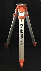 I David White 9450 Aluminum Adjustable Extension Laser Level Survey Tripod