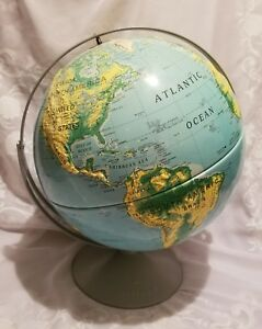 Nystrom 16 Large Sculptural Relief Globe Double Axis