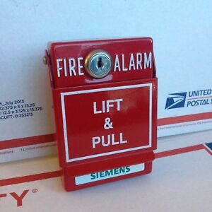 Siemens Msm kd Fire Alarm Pull Station Part 500 69821 With Double Action Cover