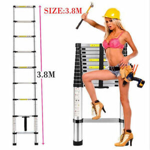New Hot Sale Heavy Duty Telescopic Extension Ladder Giant Aluminum 12 5 Feet