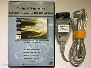 Mini Vci Diagnostic Tool Cable Scanner For Toyota Lexus Tis Techstream V13 00 22