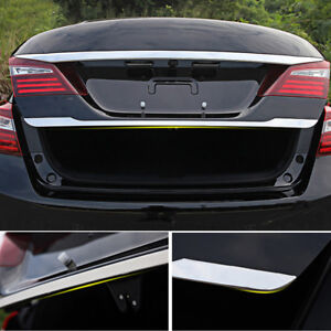 Tail Gate Cover Trim For Honda Accord 2014 2017 Chrome Rear Trunk Accent Molding