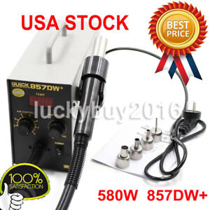 580w Quick 857dw Adjustable Hot Air Heat Gun Smd Soldering Rework Station