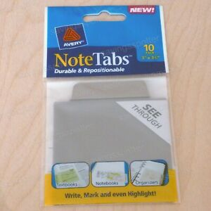 Avery Notetabs 3 X 3 5 Note Tabs Taupe Brown 10 Pack 16320