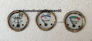 Oliver Tractor Temp oil ampere Gauges super 44 55 66 77 88 440 660 White Face