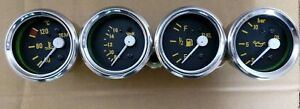 Gauges Kit Oil Pressure Bar temperature c Volt Fuel Gauge 52mm Electrical