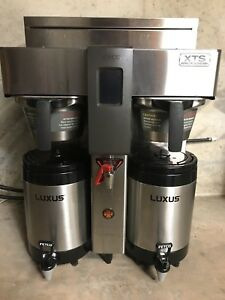 Fetco Cbs 2142 xts 1 gal Twin Airpot Coffee Brewer Dual Extractor touchscreen