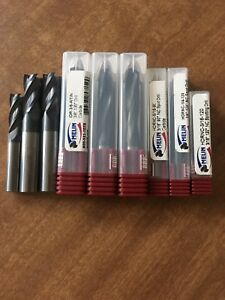 Lot Of Carbide Spot Drills And Carbide Endmills