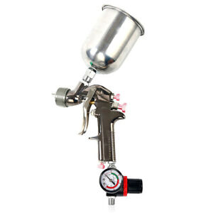 2 0mm Nozzle 1l Cup Hvlp Gravity Feed Air Painting Primer Spray Gun Clean Kit