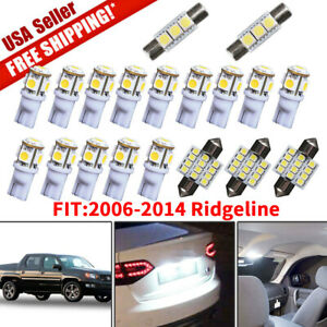 19x White Led Dome Map Lights Interior Package Kit For 2006 2014 Honda Ridgeline