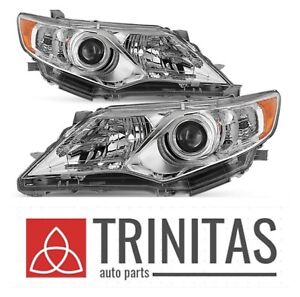 2012 2014 New Set Toyota Camry Projector Headlights Headlamps Pair Rh Lh