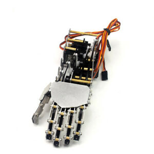 5 Fingers 5dof Claw Manipulator Arm Left Hand W 5pcs Servos For Arduino Robot