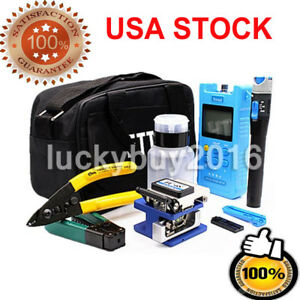 Fiber Optic Ftth Tool Kit Fc 6s Fiber Cleaver Power Meter Visual Finder Locator