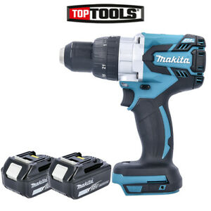Makita Dhp481z 18v Brushless Combi Drill Body With 2 X 5 0ah Batteries
