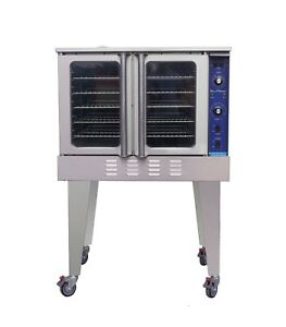 Blue Flame Commercial Kitchen 3 Burner Gas Convection Oven
