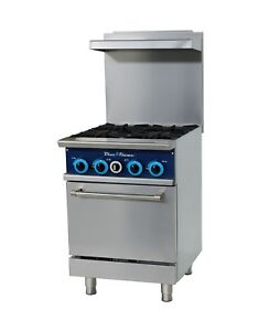 Blue Flame Commercial Kitchen 4 Burner Restaurant Range With Oven