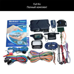Russian Version Two Way Car Alarm System Remote Engine Start Keyless Entry