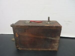 Model T Ford Wooden Battery Coil Box Vintage