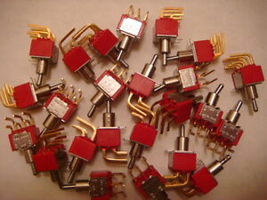 Lot Of 8 C k 7203 Dpdt 3 position on off on Toggle Switches New And Unused