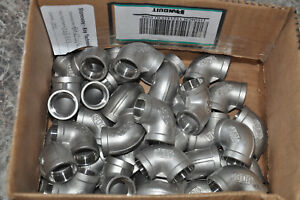 Lot Of 32 3 4 Inch 304 Stainless Steel Pipe Elbow Weld On