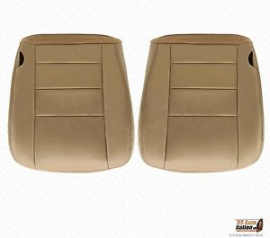 2002 2007 Ford F250 F350 Lariat Driver Passenger Seat Cover Parchment Tan Vinyl