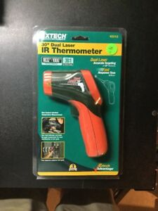 Extech 30 Dual Laser Ir Thermometer 42512 Brand New