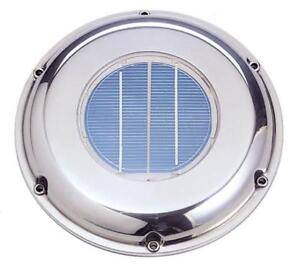 Solar Ventilation Fan Svt 212s Stainless Steel Roof Attic Boat Rv Vent