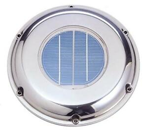 Solar Ventilation Fan Svt 224s Stainless Steel W Battery Roof Boat Rv Vent