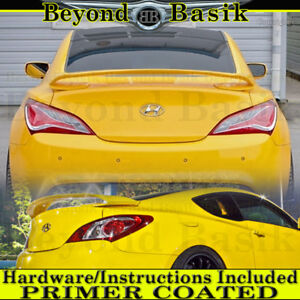 For 2010 2016 Hyundai Genesis Coupe Sequence Style Spoiler Wing Primer Coated