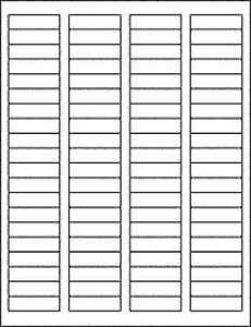 50 Sheets 4000 Blank Return Address Labels 1 75 X 5 Free Shipping