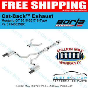 Borla 15 17 Ford Mustang Gt 5 0l V8 S Type Catback Exhaust 140629bc