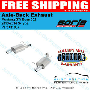 Borla S Type Axle Back Exhaust 13 14 Mustang Gt Boss 302 5 0l 11837