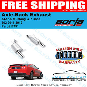 Borla Atak Axle Back Exhaust 2011 2012 Ford Mustang Gt 5 0l Boss 302 11791
