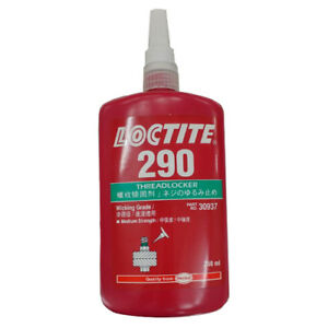 2 Of Loctite 290 Green Medium Strength Threadlocker 250 Ml Bottle