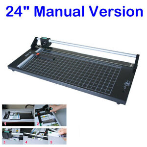 24 Manual Precision Rotary Paper Trimmer Sharp Photo Paper Cutter Machine Usa