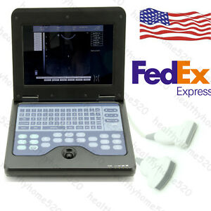 New Cms600p2 Laptop Ultrasound Scanner Diagnostic Systems Convex Linear Probe