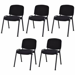Conference Office Waiting Room Chairs Ergonomic Set Of 5 Restaurant Stacking New