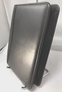 Franklin Covey Classic 1 5 7 Ring Black Leather Three Side Zip Binder 8
