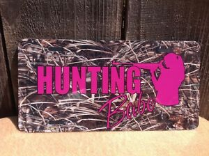 Hunting Babe Pink Camo Wholesale Novelty License Plate Bar Wall Decor