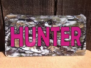 Hunter Pink Camo Wholesale Novelty License Plate Bar Wall Decor