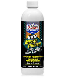 LUCAS GUN METAL POLISH & TUMBLER  MEDIA ADDITIVE #10880  12 X  16 OZ.BOTTLE  USA $107.99